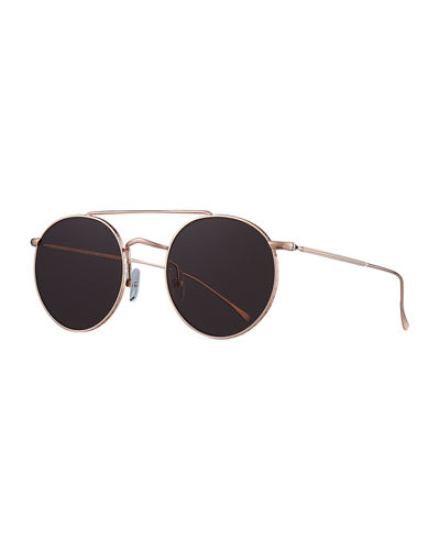 Allen M Round Metal Sunglasses
