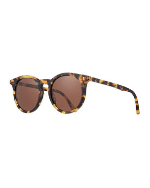ba9b4e4cd90 Illesteva Sterling II Round Transparent Acetate Sunglasses
