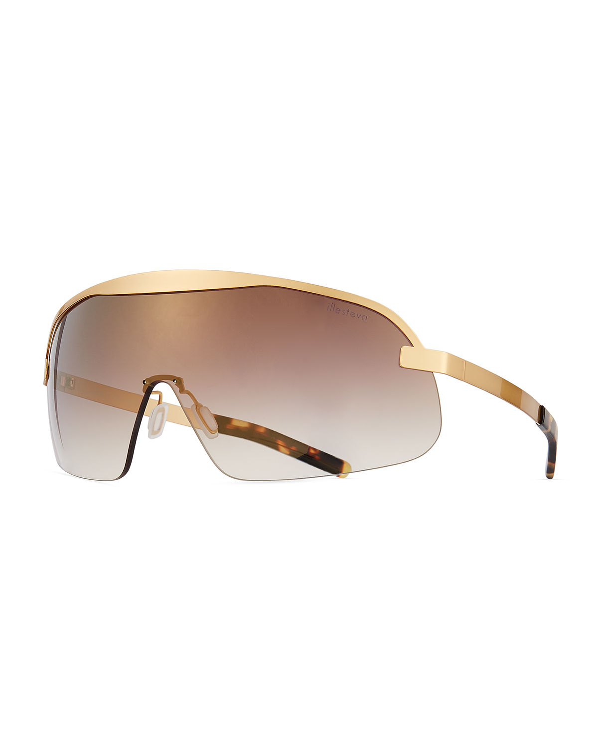 Illesteva Sunglasses HOPPER GRADIENT SHIELD SUNGLASSES