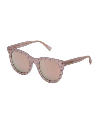 Cyndi Studded Gradient Square Sunglasses