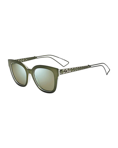 Diorama Caged Monochromatic Sunglasses, Blue