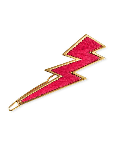 Mignonne Gavigan 14K Gold Threaded Lightning Bolt Hair Clip