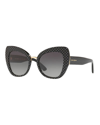 Peaked Cat-Eye Acetate Sunglasses