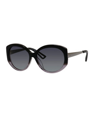 3834f69a715 Dior ExtaSFS Oval Acetate   Metal Sunglasses