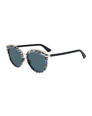 8620b6ddc4 Dior Offset2 Round Acetate   Metal Sunglasses