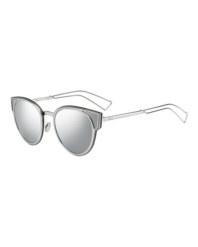 SculptF Metal Cutout Round Sunglasses