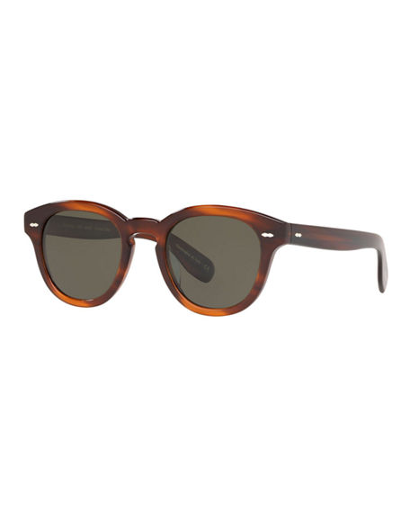 Oliver Peoples Sunglasses CARY GRANT OVAL POLARIZED ACETATE SUNGLASSES
