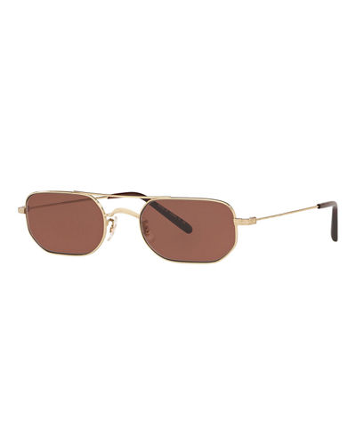 Indio Titanium Rectangle Sunglasses
