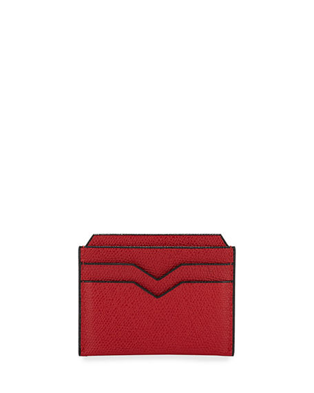 Valextra Saffiano Leather Card Case