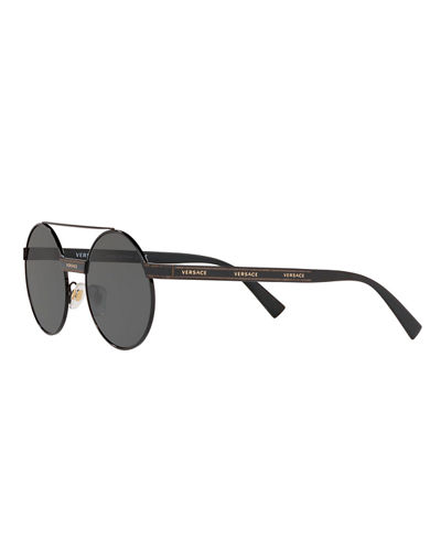 Versace Round Metal Sunglasses