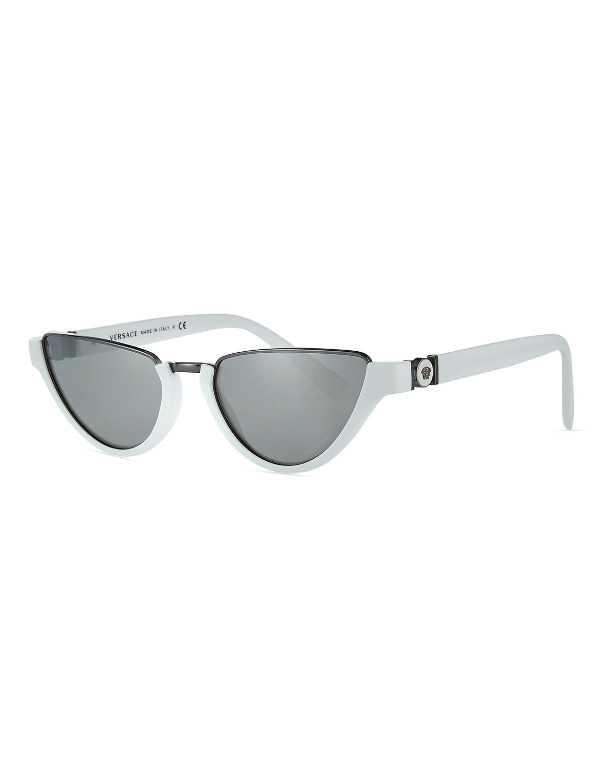 Versace Sunglasses MONOCHROMATIC MEDUSA HEAD RECTANGLE SUNGLASSES