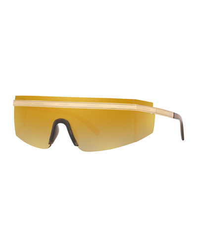 Versace Shield Wrap Logo Sunglasses
