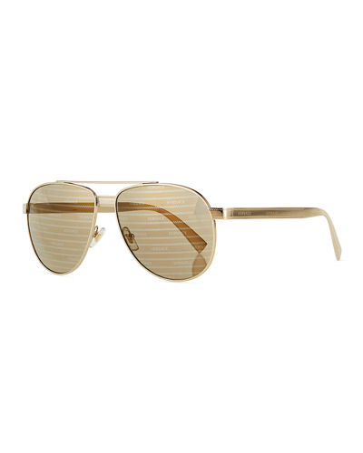 Steel Aviator Sunglasses