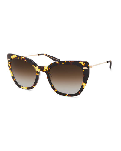 Catroux Acetate & Titanium Cat-Eye Sunglasses