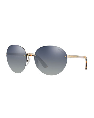 0f7d72fbcfff Quick Look. Prada · Rimless Acetate/Metal Sunglasses. Available in Gold