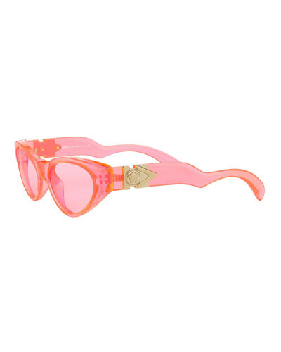 Versace Monochromatic Cat-Eye Sunglasses