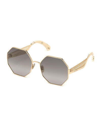 Octagonal Metal Sunglasses