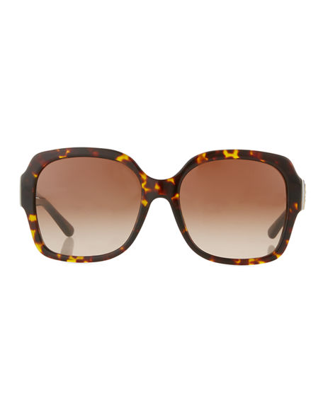 Image 2 of 3: Tory Burch Square Acetate Sunglasses