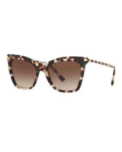 Rockstud-Trim Cat-Eye Sunglasses