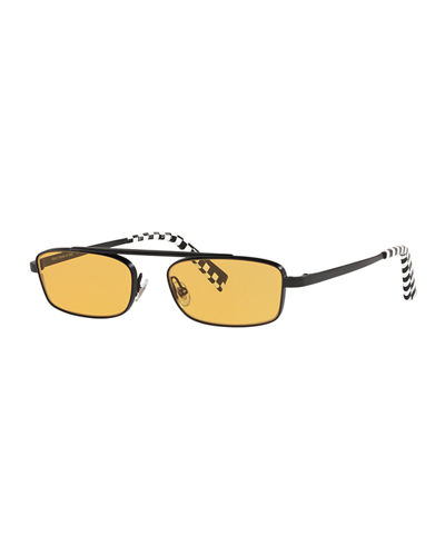 Alain Mikli Callot Rectangle Metal Sunglasses