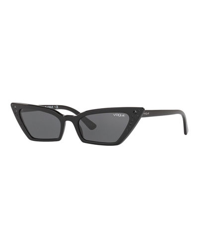 Crystal-Trim Acetate Cat-Eye Sunglasses