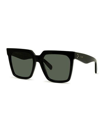 Square Acetate Sunglasses w/ Side Studs