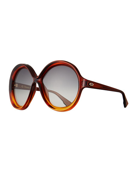 Dior DiorBianca Two-Tone Butterfly Sunglasses