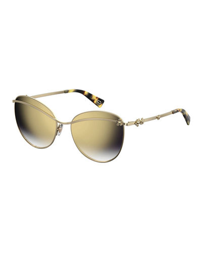 Daisy 1S Mirrored Round Sunglasses