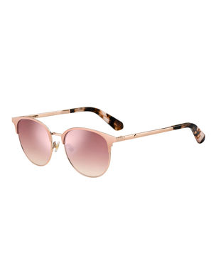 93c3d75f8 kate spade new york joelynns round stainless steel sunglasses