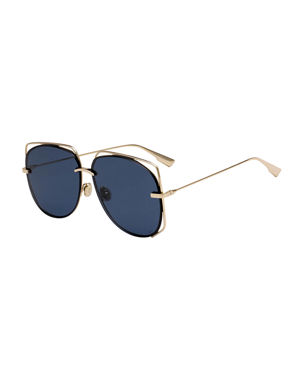 aaafe133d43f6 Dior Stellair6 Square Metal Cutout Sunglasses