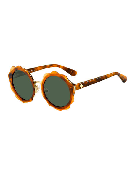 kate spade new york karries round flower sunglasses