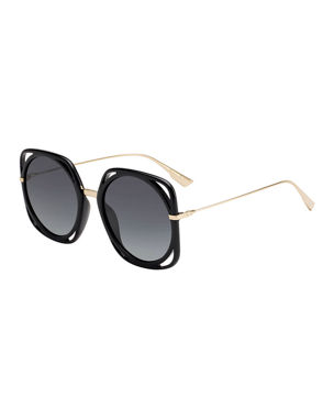 ed7b21ab75 Dior Directions Cutout Gradient Sunglasses
