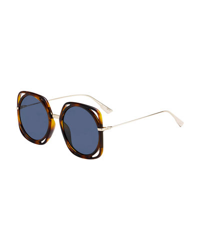 Directions Cutout Gradient Sunglasses