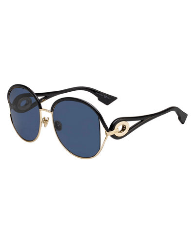 New Volutes Mirrored Round Sunglasses