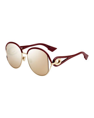 04f2e1bae Dior New Volutes Mirrored Round Sunglasses