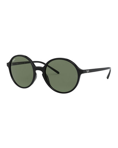 Round Monochromatic Sunglasses