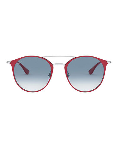 Ray-Ban Round Steel Sunglasses