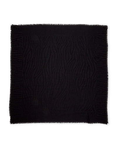 Loro Piana Malawi Tonal Animal Pattern Silk Scarf