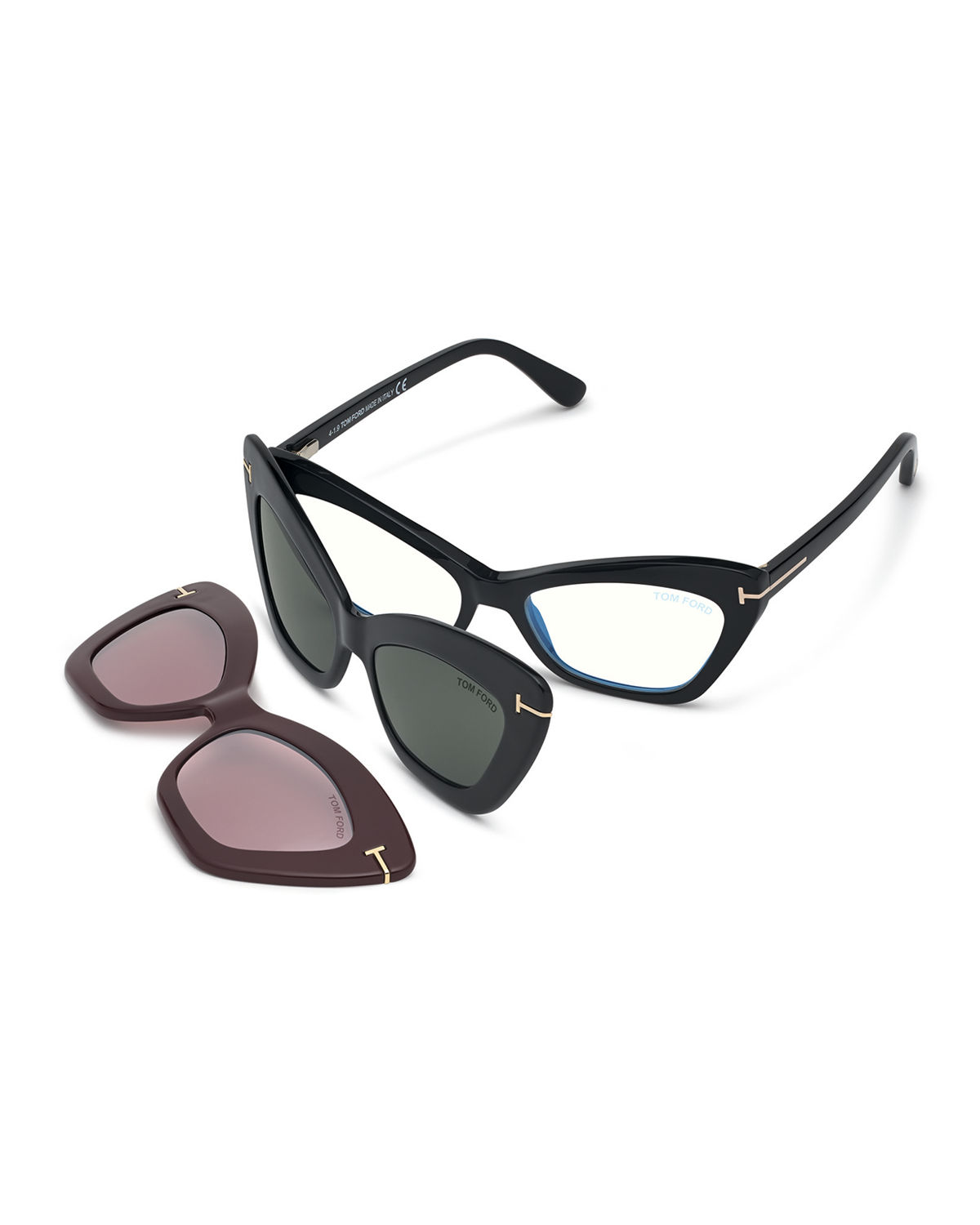Butterfly Optical Frames w/ Two Magnetic Sunglasses Clips