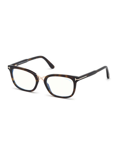 Blue Block Acetate Optical Frames