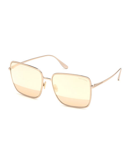 TOM FORD Heather Square Metal Sunglasses