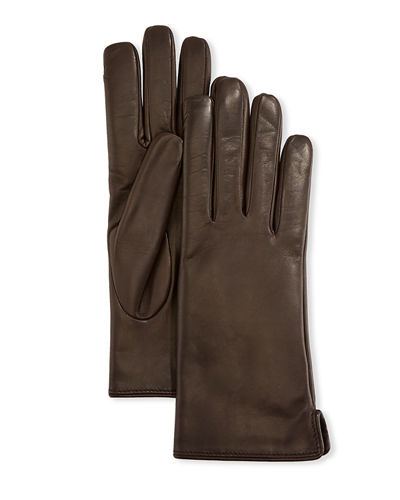CASF Mens Genuine Leather Gloves For Men Lambskin With Elasticized Cuffs
