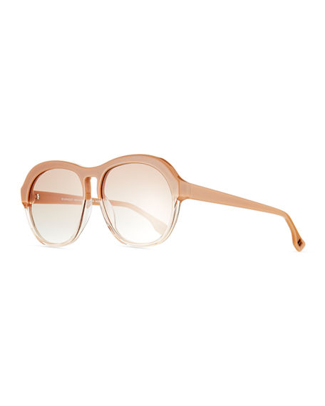 Image 1 of 3: Le Specs Burnout Two-Tone Aviator Sunglasses