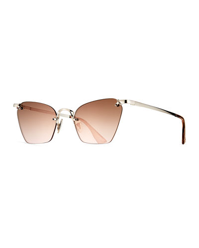 Pit Stop Rimless Cat-Eye Sunglasses