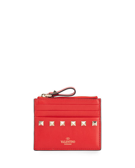 Valentino Garavani Rockstud Leather Card Case