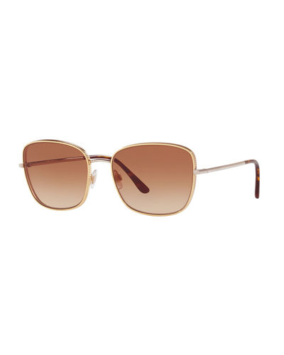 Ridged Metal Butterfly Sunglasses