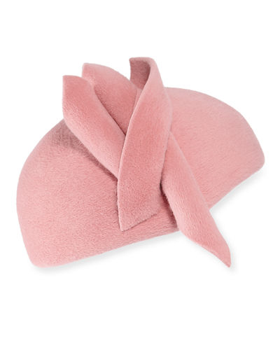 Philip Treacy Wool Felt Velour Hand-Blocked Beret