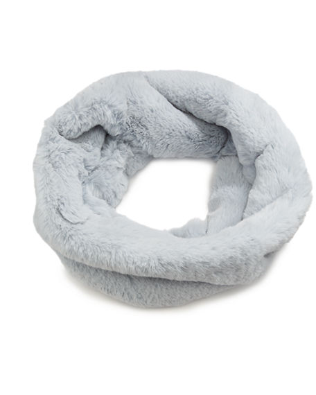 Heurueh Luxe Faux Fur Crossover Cowl Scarf