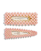 BaubleBar Scarlett Pearly Hair Clips, Set of 2