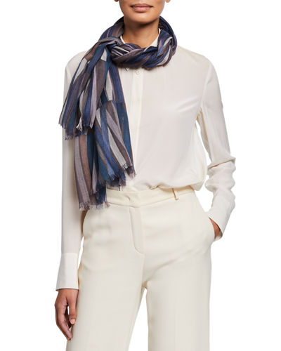 Loro Piana Reverie Multi Stripe Scarf